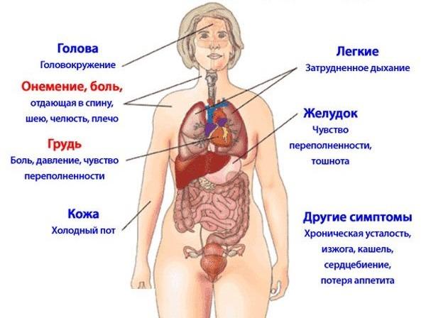 болезни сердца инфаркт признаки болезни