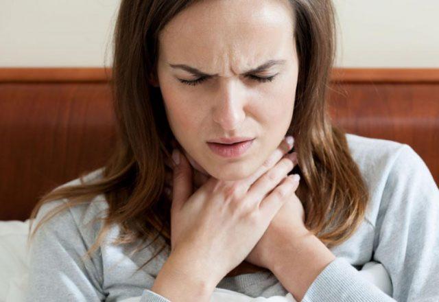 Ощущение кома в горле при ВСД